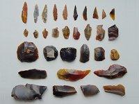 Vuurstenen werktuigjes uit het Mesolithicum
